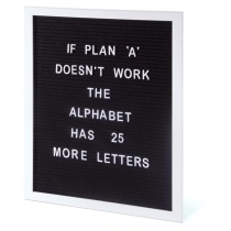 4. The Design Gift Shop Large Changeable A3 Letter Board