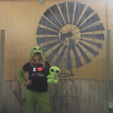 An alien in Wycliffe Well (UFO capital of Australia)