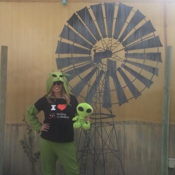 An alien in Wycliffe Well (UFO capital of Australia)