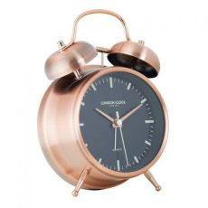 3. PS Home and Living London Clock Company Blaze Copper Twin Bell Silent Alarm Clock
