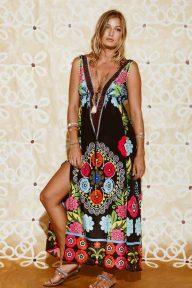 18 - Ruby Yaya Globetrotter Marrakech V Neck Poly Dress