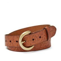 Fossil Floral Embossed Belt, $38 - https://www.fossil.com/us/en/shopbr/womens-tan-belt.html