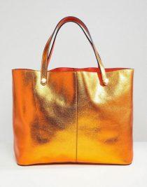 river-island-Orange-Reversible-Shopper-Bag