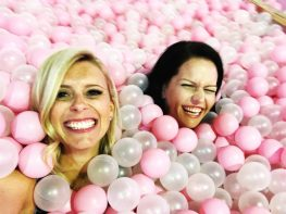 I'll hang out in a ball pit with this gal any day.