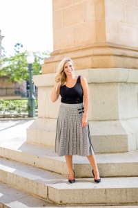 M&S grey-pleated-midi-skirt